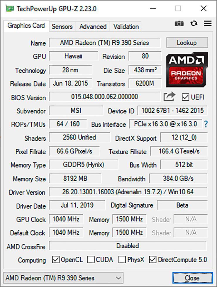 Утилита GPU-Z обновлена до версии 2.23