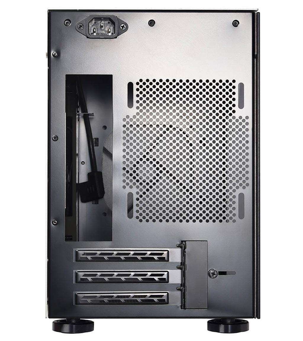 Корпус Lian Li TU150 выполнен исключительно из стали, алюминия и стекла