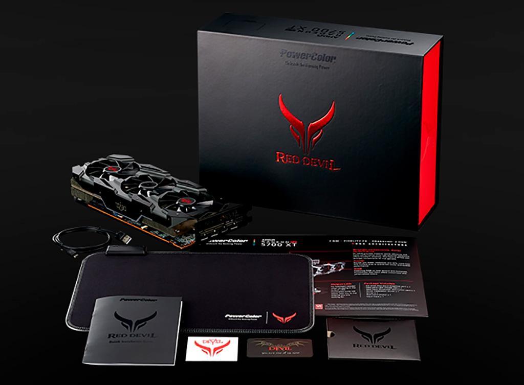 У PowerColor Radeon RX 5700 (XT) Red Devil подсвечиваются видеопорты