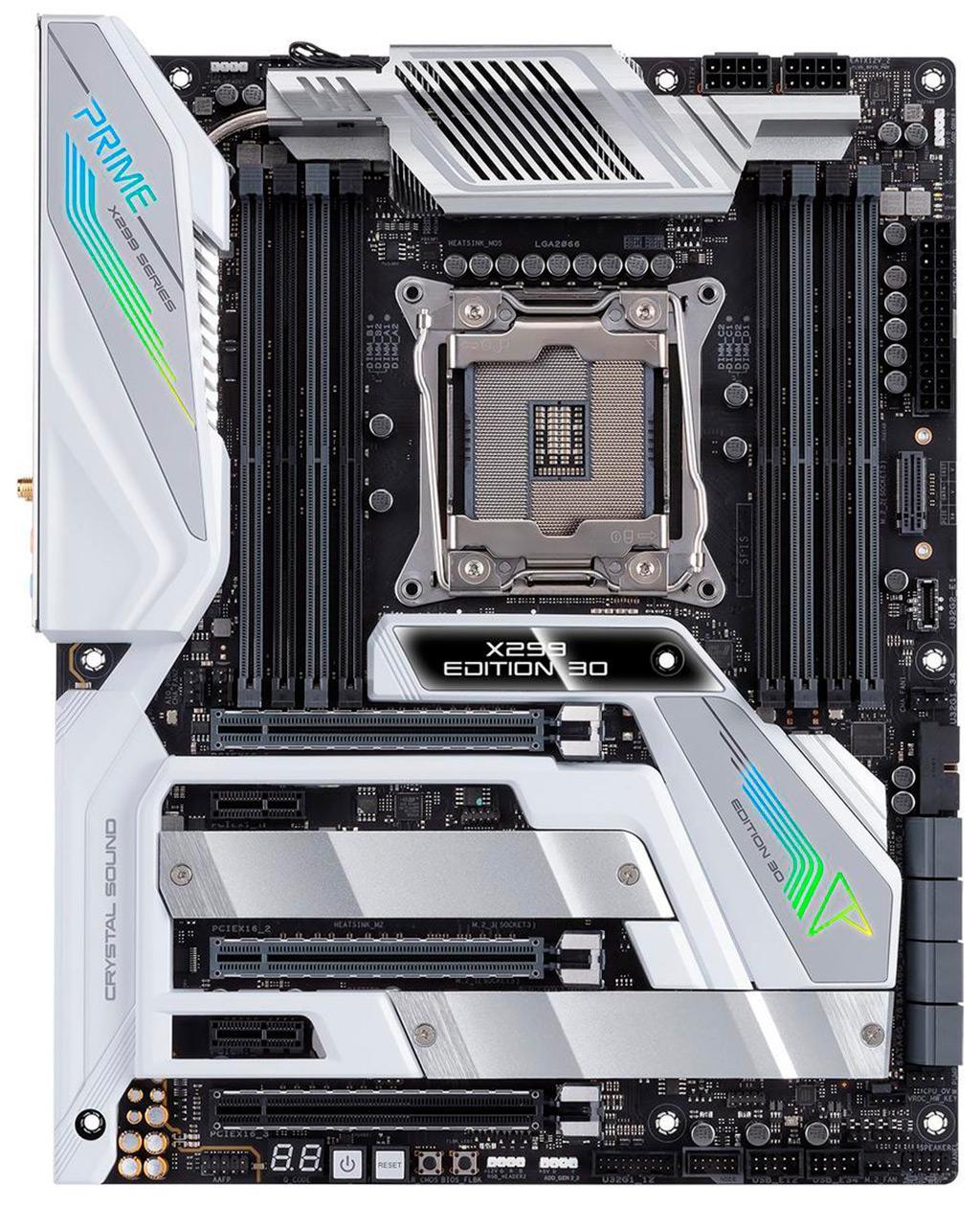 ASUS представила три новые платы на базе чипсета X299