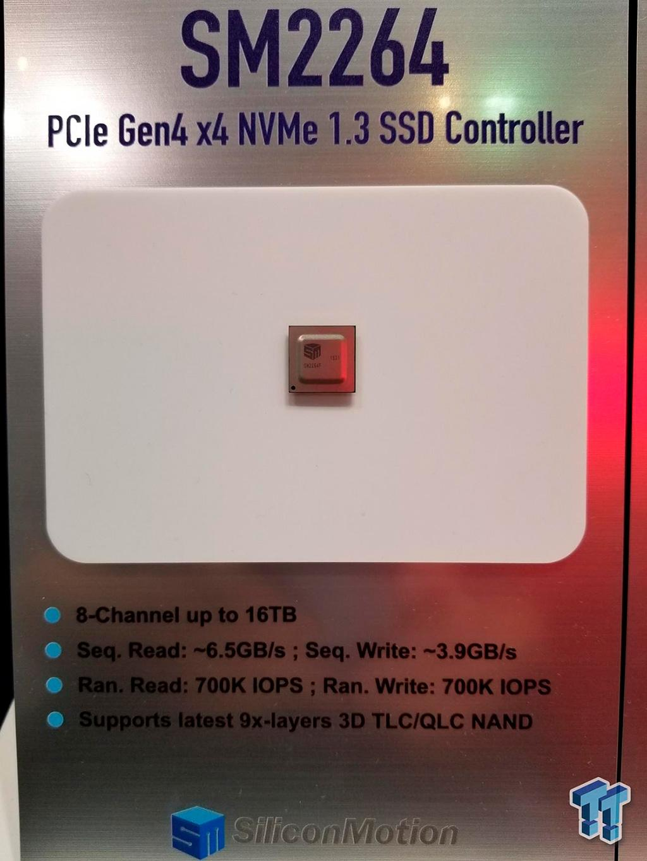 Silicon Motion и Phison показали свои будущие контроллеры для SSD с интерфейсом PCI-E 4.0