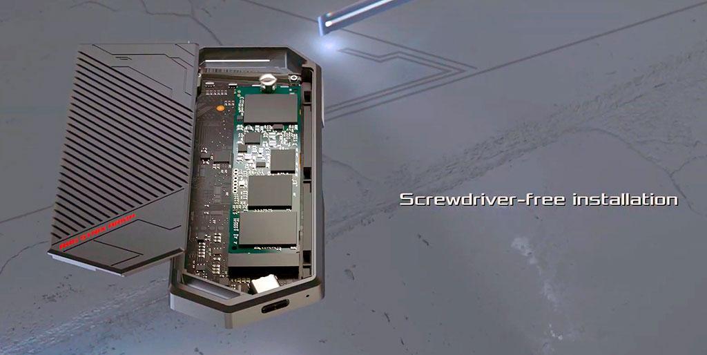 ASUS ROG Strix Arion позволит использовать сверхскоростной NVMe-накопитель в качестве флешки