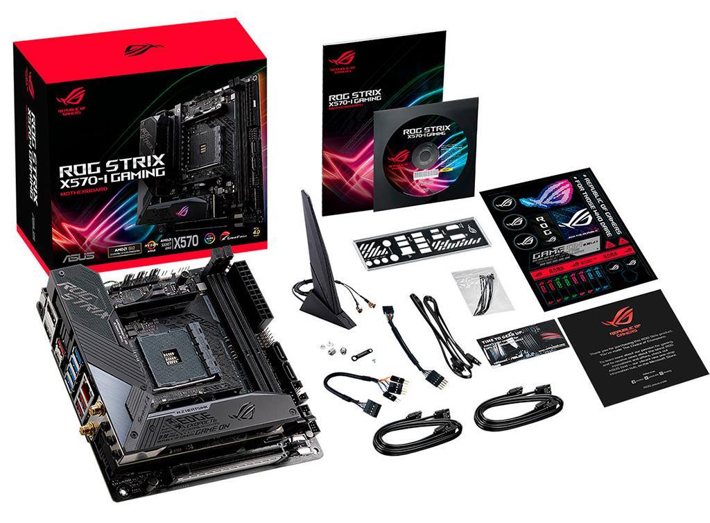 Материнская плата ASUS ROG Strix X570-I Gaming выполнена в формате Mini-ITX