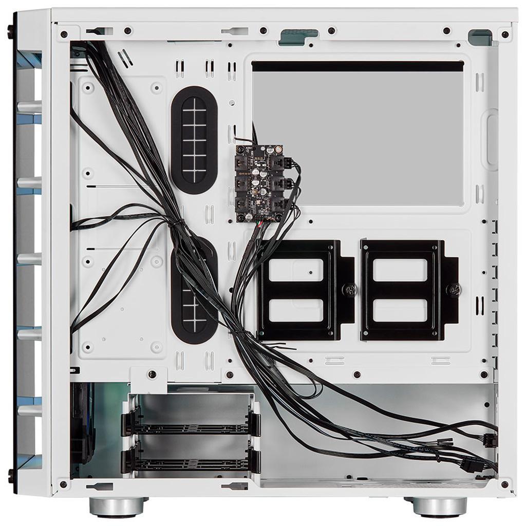 Corsair iCUE 465X RGB - корпус с двумя панелями из стекла и тремя RGB-вентиляторами