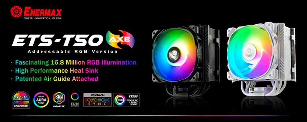 Кулер Enermax ETS-T50 Axe появился в версии с ARGB-подсветкой
