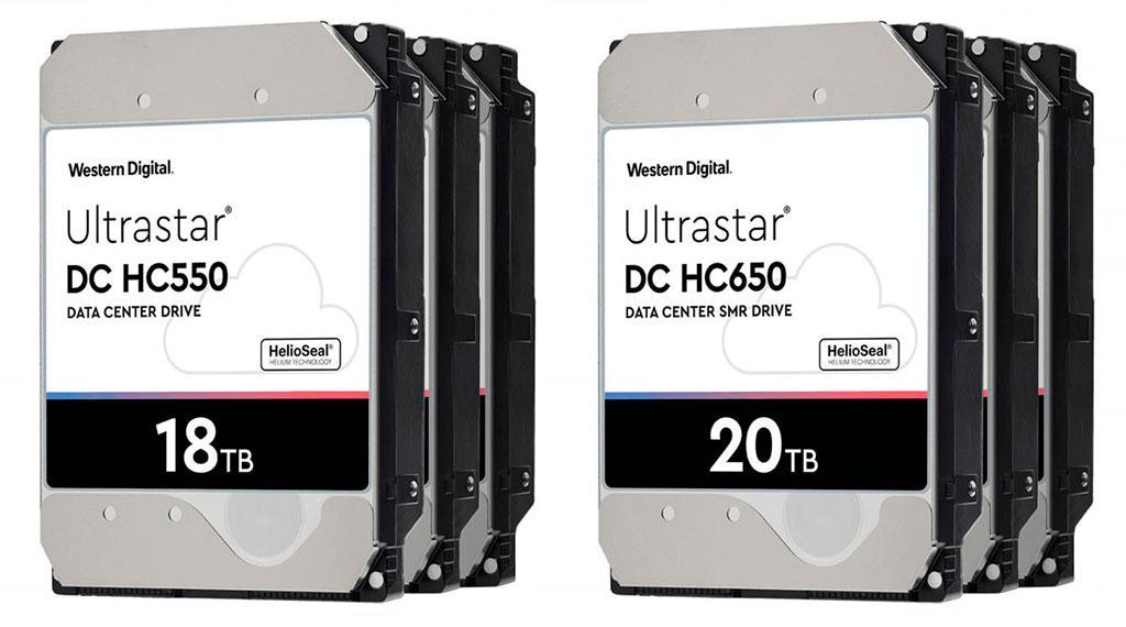 Western Digital готовит HDD серии Ultrastar с рекордной ёмкостью до 20 ТБ