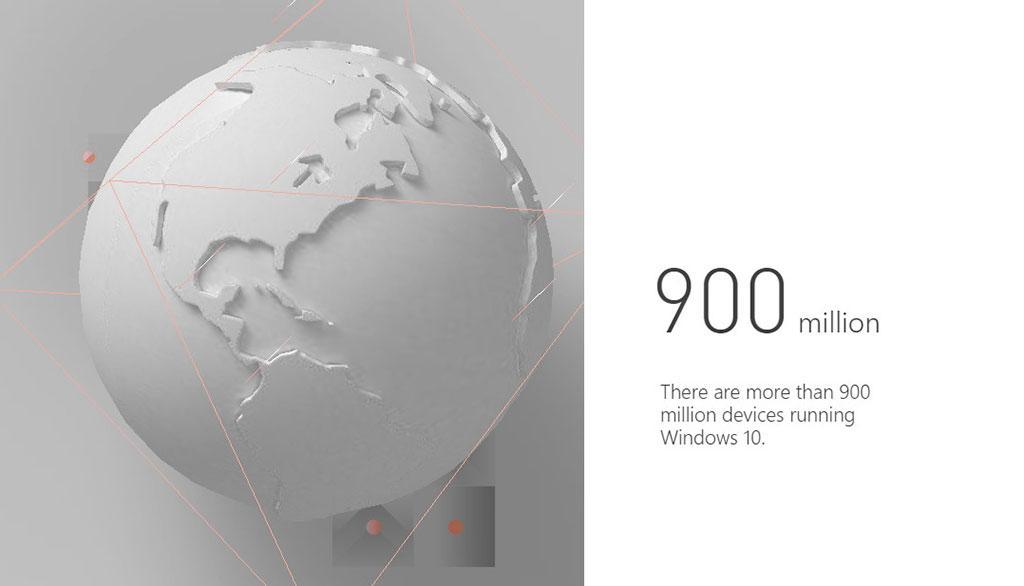 Миллиард уже близко: Windows 10 используется на 900 млн. устройств