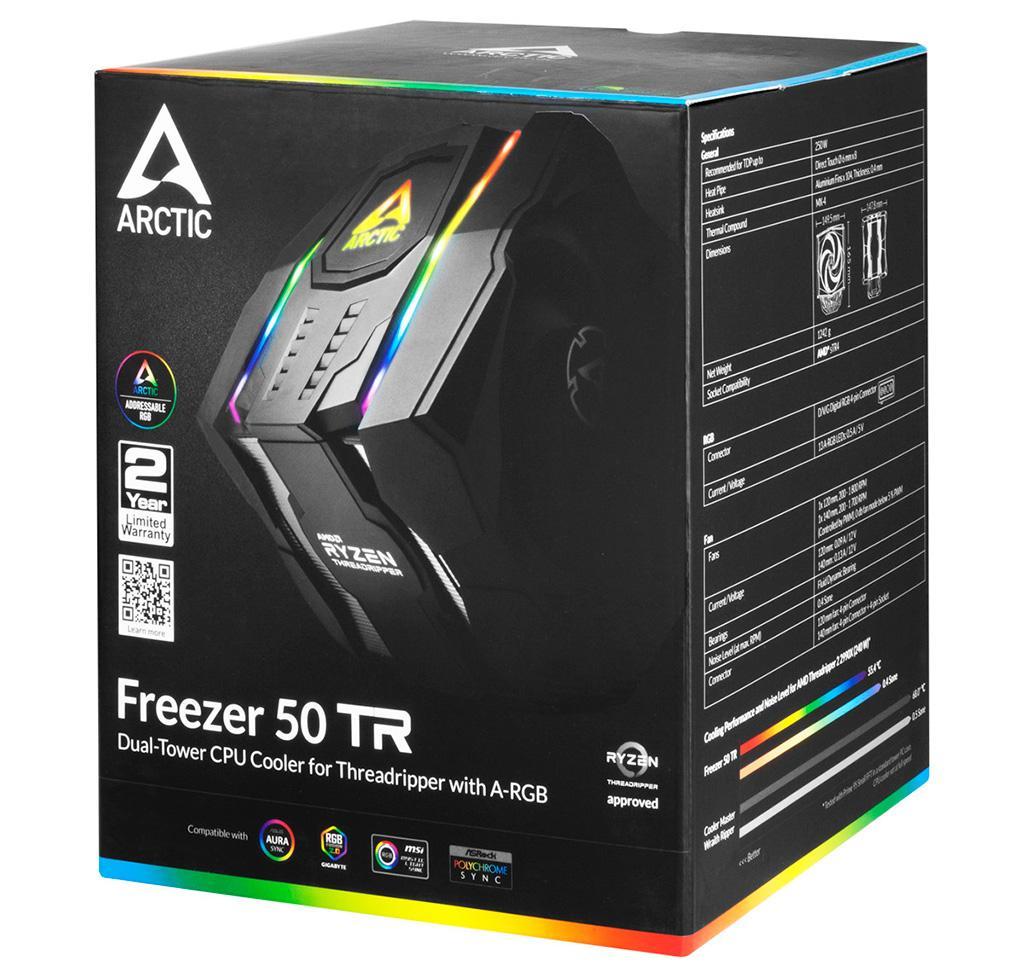 И ты, Брут: Arctic Freezer 50 TR ARGB – первый кулер от Arctic с подсветкой