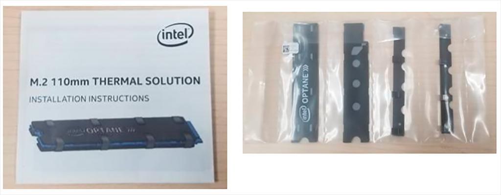 У новых версий накопителей Intel Optane SSD 905P M.2 в комплекте радиатор
