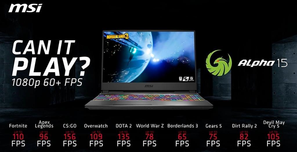 MSI Alpha 15 – первый ноутбук и графикой AMD Radeon RX 5500M