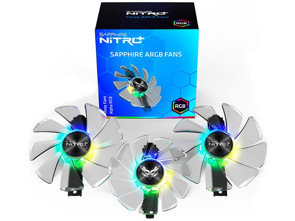 Для Sapphire Radeon RX 5700 (XT) Nitro+ в продаже замечены ARGB-вентиляторы