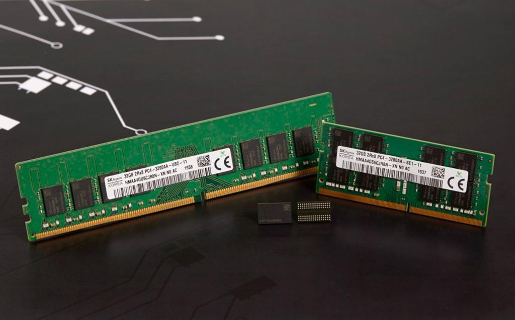 SK Hynix завершила разработку 16-гигабитных микросхем DDR4, производимых по техпроцессу 1z-нм