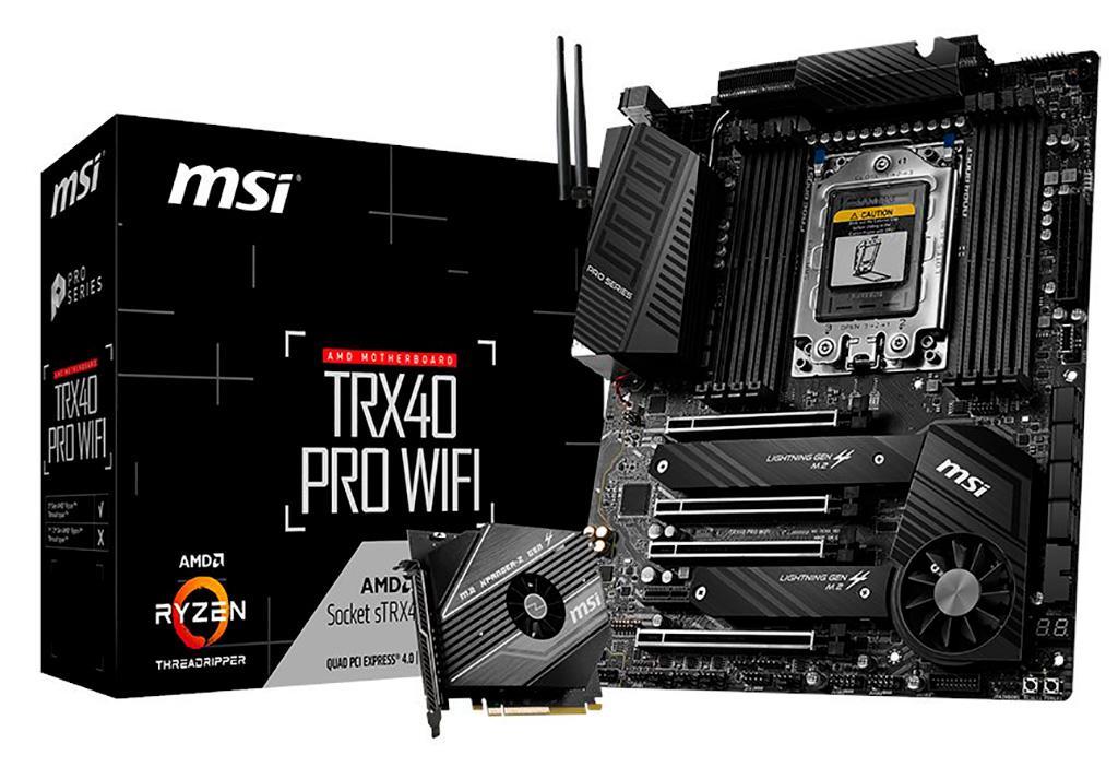 Первые качественные фото плат с чипсетом AMD TRX40. Встречаем MSI TRX40 Pro в двух версиях