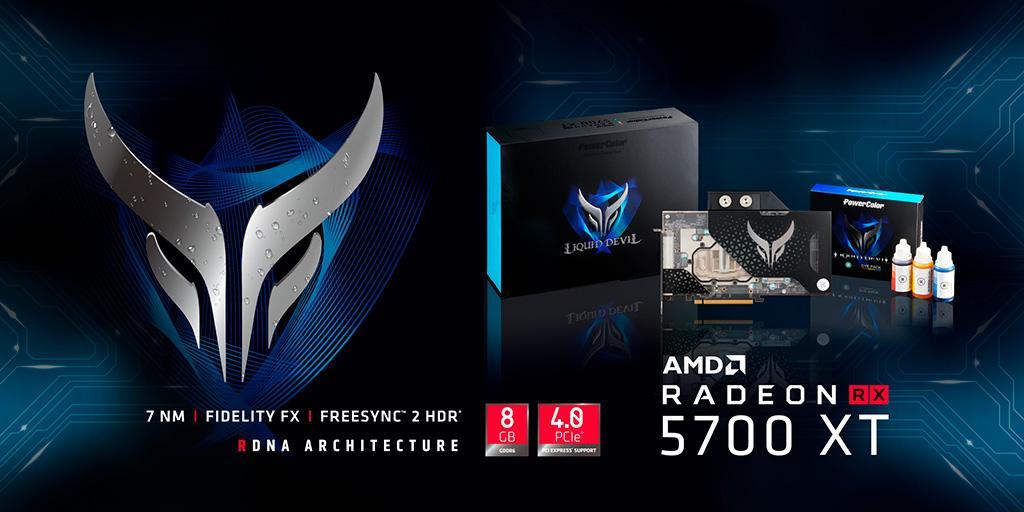 PowerColor Radeon RX 5700 XT Liquid Devil получила впечатляющий заводской разгон по ядру