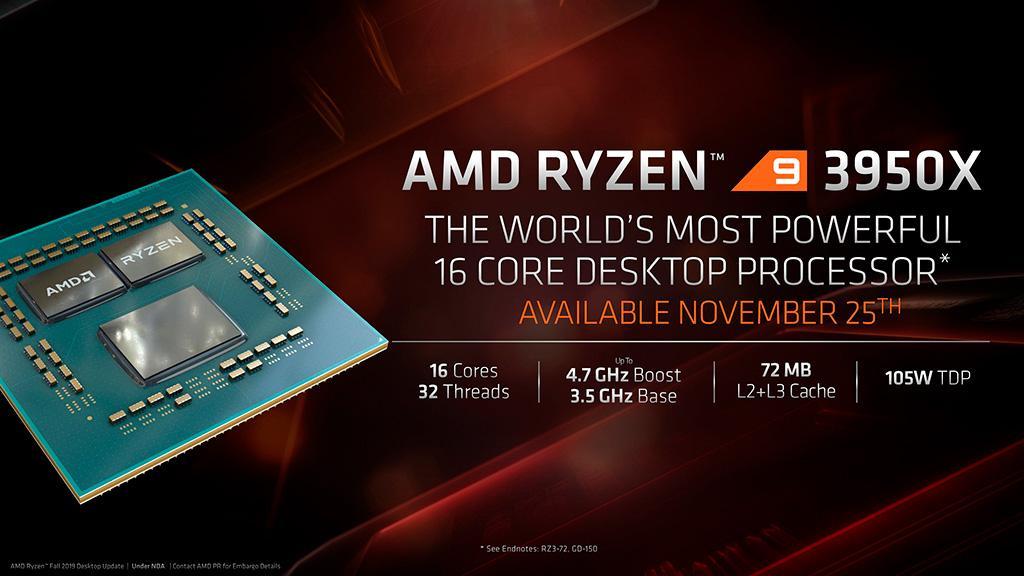 Процессоры AMD Ryzen Threadripper 3rd Gen и Ryzen 9 3950X добрались до прилавков магазинов
