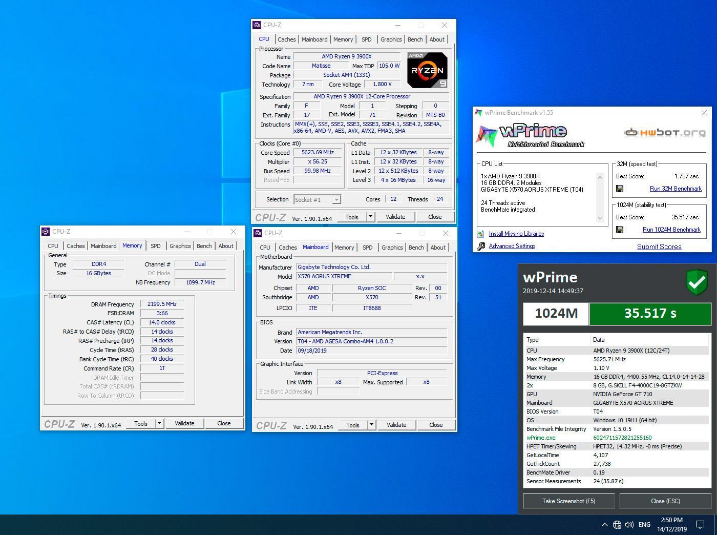 Ryzen 9 3900X, жидкий азот и профессиональные руки: разгон до 5,6 ГГц обеспечил ряд рекордов