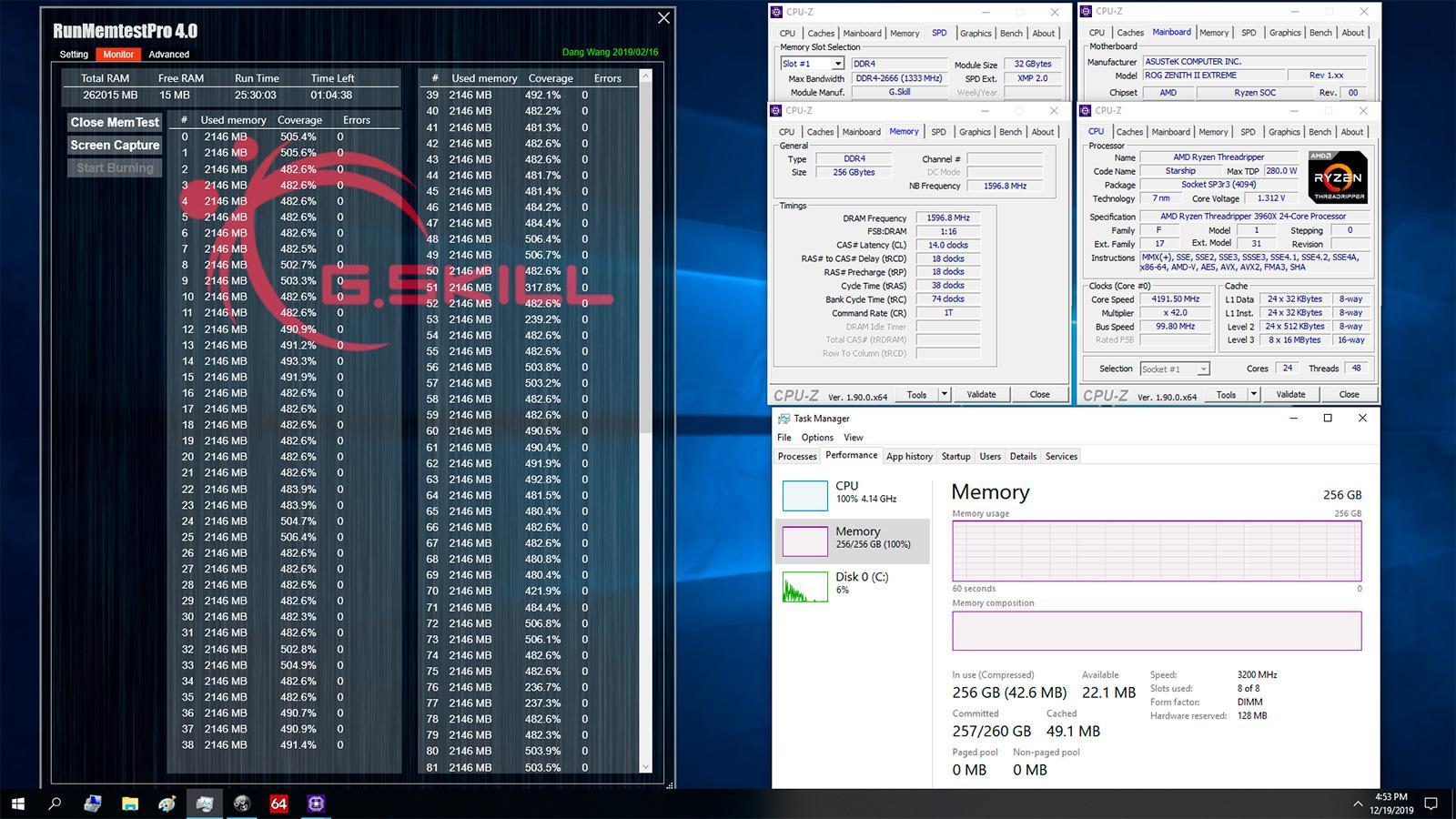G.Skill анонсировала 32-ГБ модули памяти Trident Z DDR4-3200 с таймингами CL14