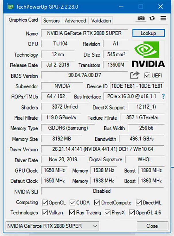 Утилита GPU-Z обновлена до версии 2.28