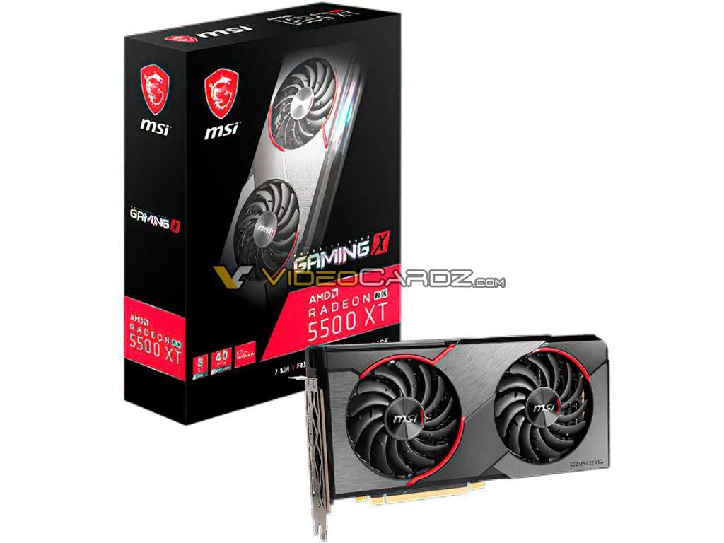 MSI готовит видеокарты Radeon RX 5500 XT в исполнении Mech и Gaming X