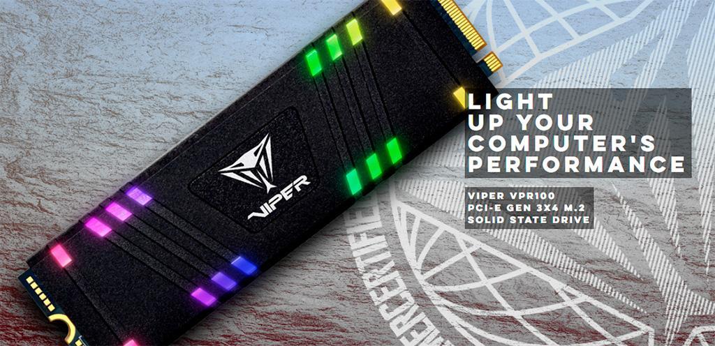 NVMe-накопители Patriot Viper VPR100 получили RGB-подсветку