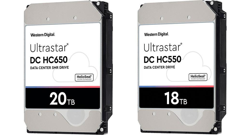 Начались первые поставки 18- и 20-ТБ накопителей Western Digital Ultrastar DC
