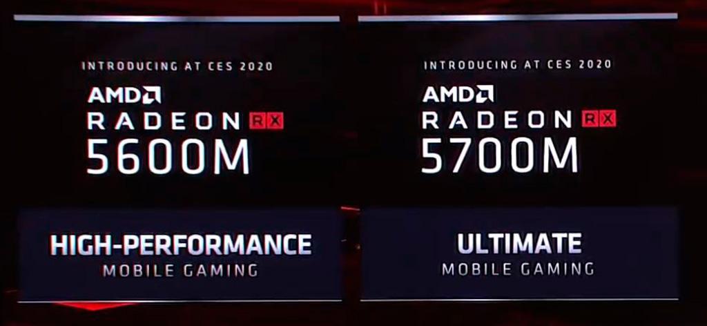 Анонсированы мобильные видеокарты AMD Radeon RX 5600M и RX 5700M