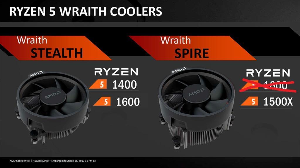 AMD Ryzen 5 1600 официально переехал на 12-нм техпроцесс и получил кулер попроще