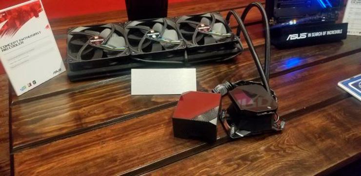CES 2020: прототип 420-мм СВО от ASUS с медным радиатором и пропеллерами Noctua