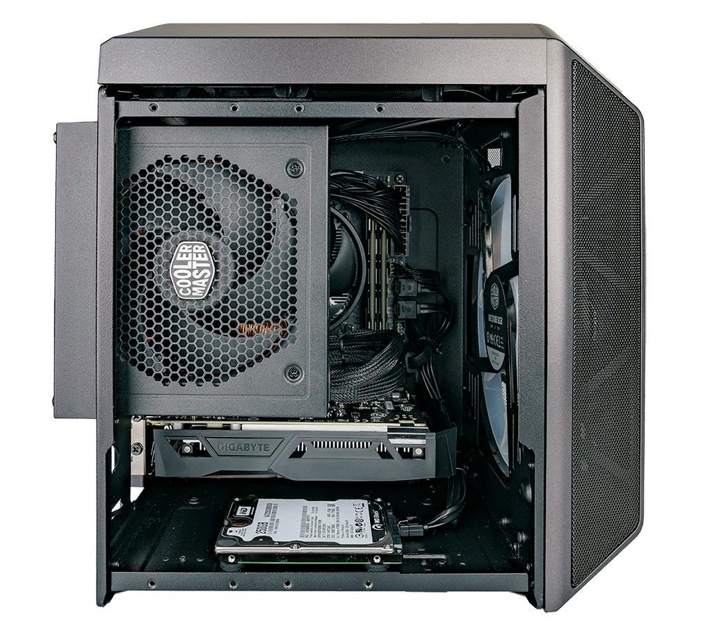 Корпус Cooler Master MasterCase H100 ARGB охлаждается лишь одним пропеллером, но каким