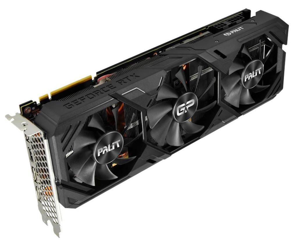Новые видеокарты Palit GeForce RTX Super GP Series получили нетипичный трёхвентиляторный кулер