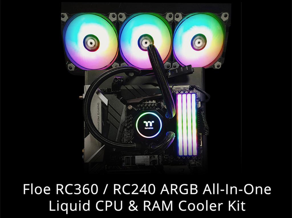 Thermaltake Floe RC360 и RC240 ARGB – первые в мире AiO СВО, охлаждающие и память