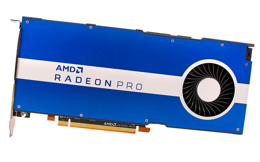 Представлена профессиональная видеокарта AMD Radeon Pro W5500