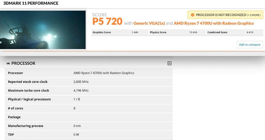 Графический блок AMD Ryzen 7 4700U показал NVIDIA GeForce MX250 как надо