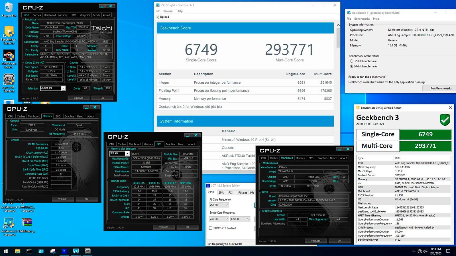 AMD Ryzen Threadripper 3990X и оверклокерские рекорды