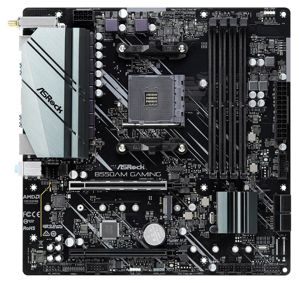 В Сети появились фото платы ASRock B550AM Gaming на базе чипсета AMD B550A
