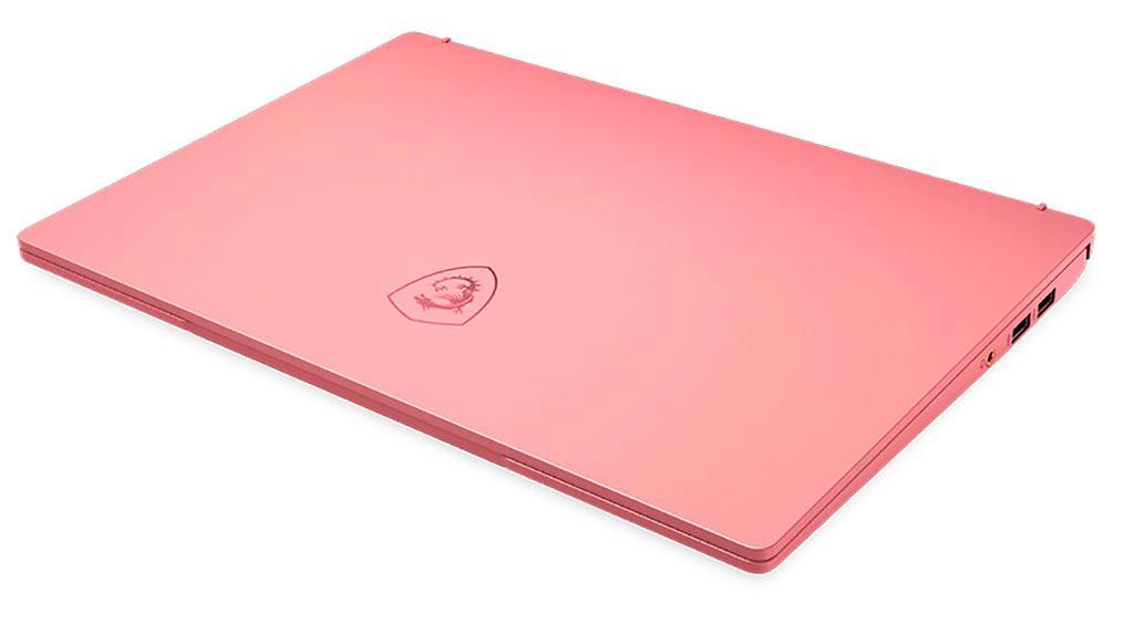 Ноутбук MSI Prestige 14 Limited Edition Rose Pink выделяется нетипичным цветом