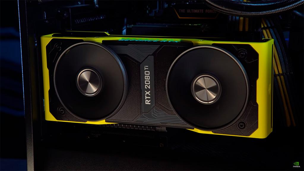 Видео: NVIDIA показала распаковку редкой GeForce RTX 2080 Ti Cyberpunk 2077 Edition