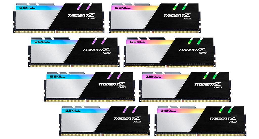 G.Skill анонсировала 256-гигабайтные комплекты памяти DDR4-3600 Trident-Z Neo