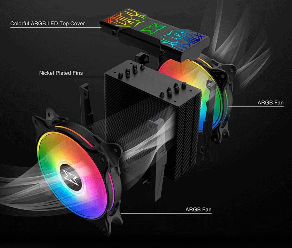 Xigmatek представила процессорный кулер WindpowerPRO c ARGB-подсветкой