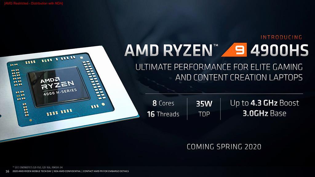 AMD Ryzen 94900HS натурально унижает мобильные процессоры Intel