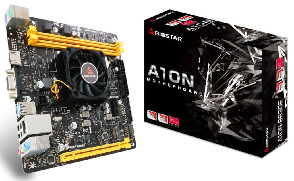 Biostar A10N-9630E – компактная плата с распаянным гибридным процессором AMD