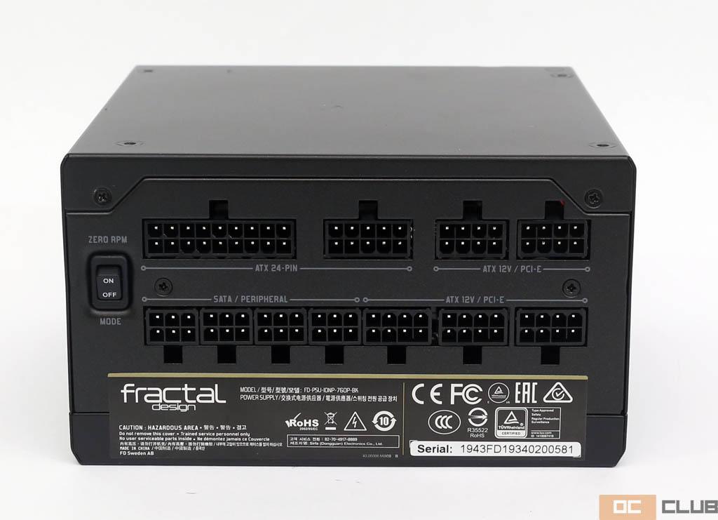 Fractal Design Ion+ Platinum 760 Вт: обзор. Fractal Design выстрелили