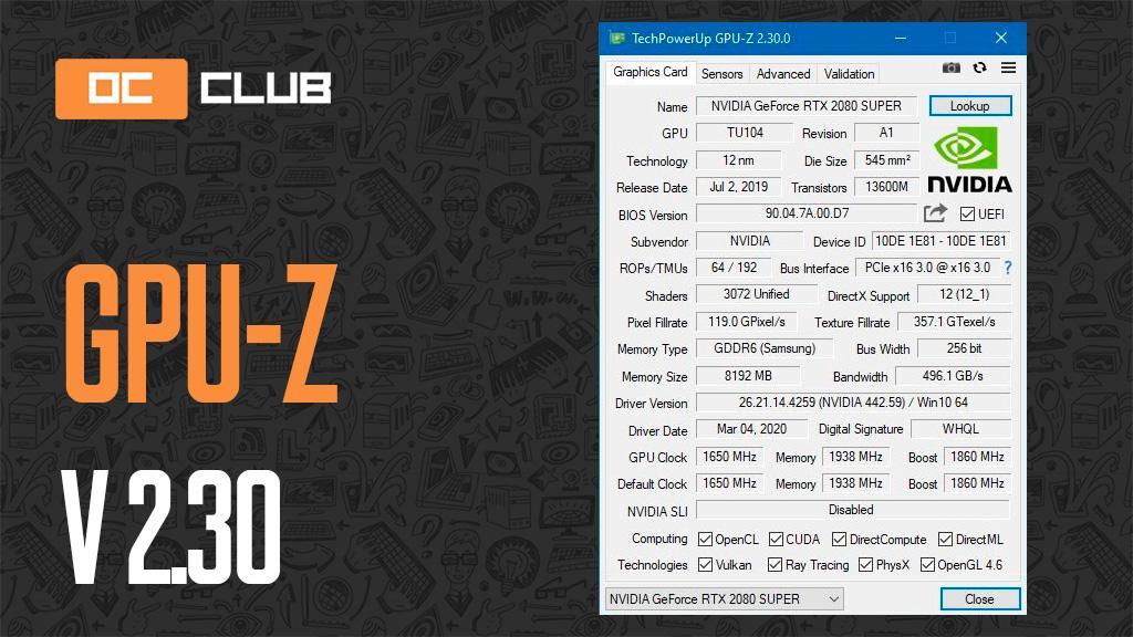Утилита GPU-Z обновлена до версии 2.30