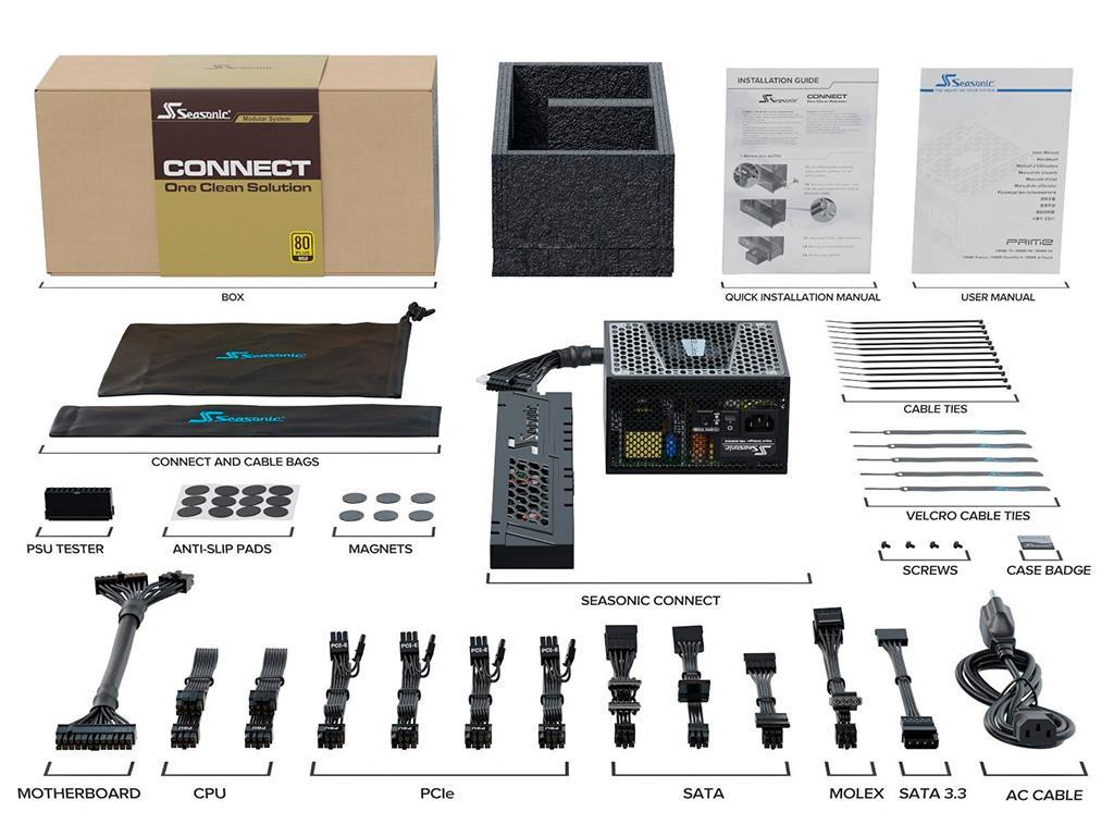SeaSonic Connect 750W – блок питания с инновационной системой подключения кабелей