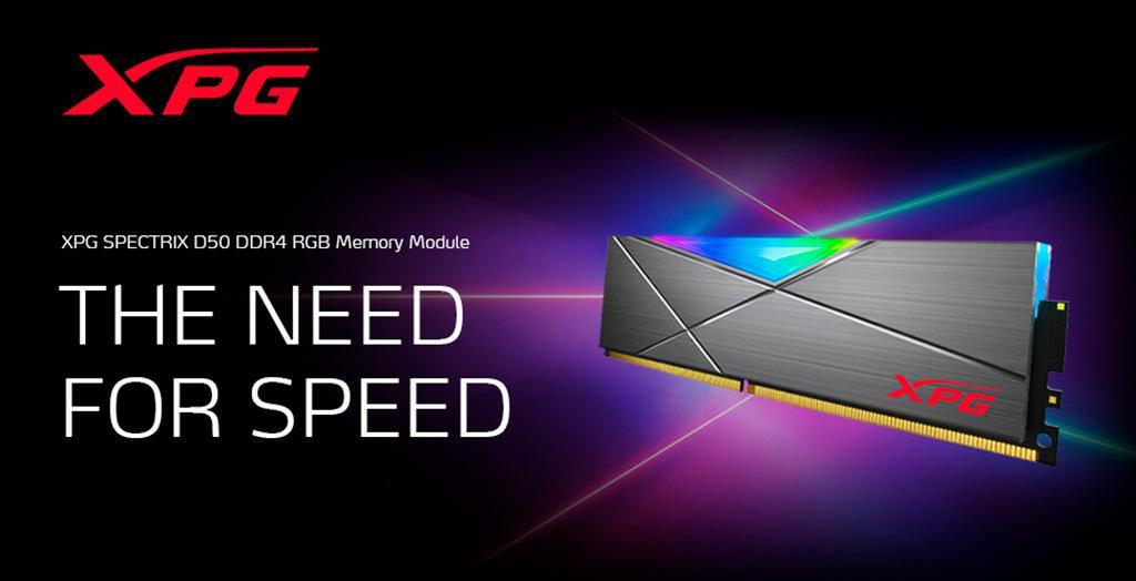 Модули памяти ADATA XPG Spectrix D50 DDR4 RGB достигают частоты 4800 МГц
