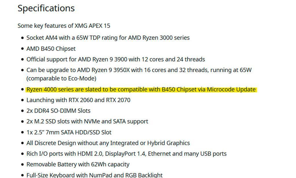 Процессоры AMD Ryzen 4000 (Vermeer) будут совместимы с платами на чипсете B450