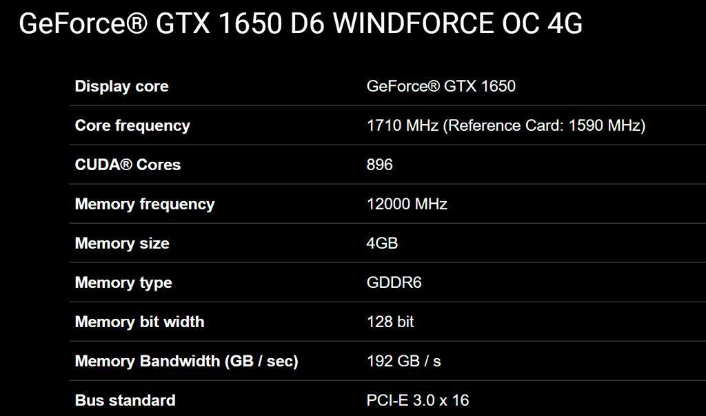 GeForce GTX 1650 на памяти GDDR6 «засветились» в магазинах