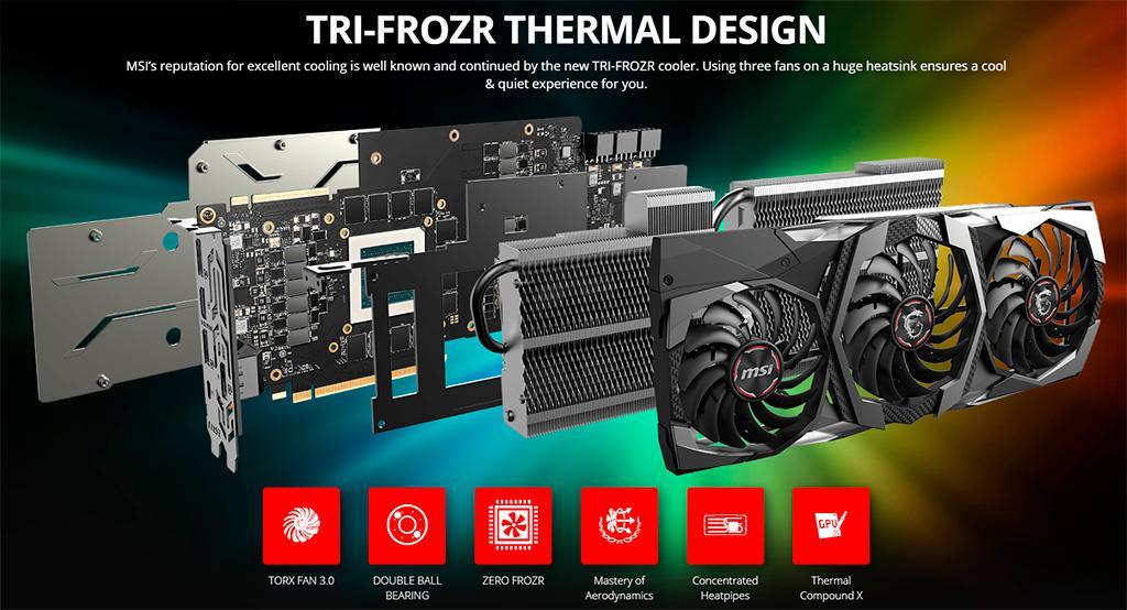 Видеокарта MSI GeForce RTX 2080 Ti Gaming Z Trio получила самые быстрые чипы GDDR6