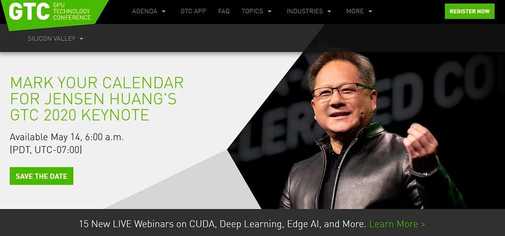 Формат GTC 2020 окончательно определён: NVIDIA много расскажет про грядущие новинки 14 мая