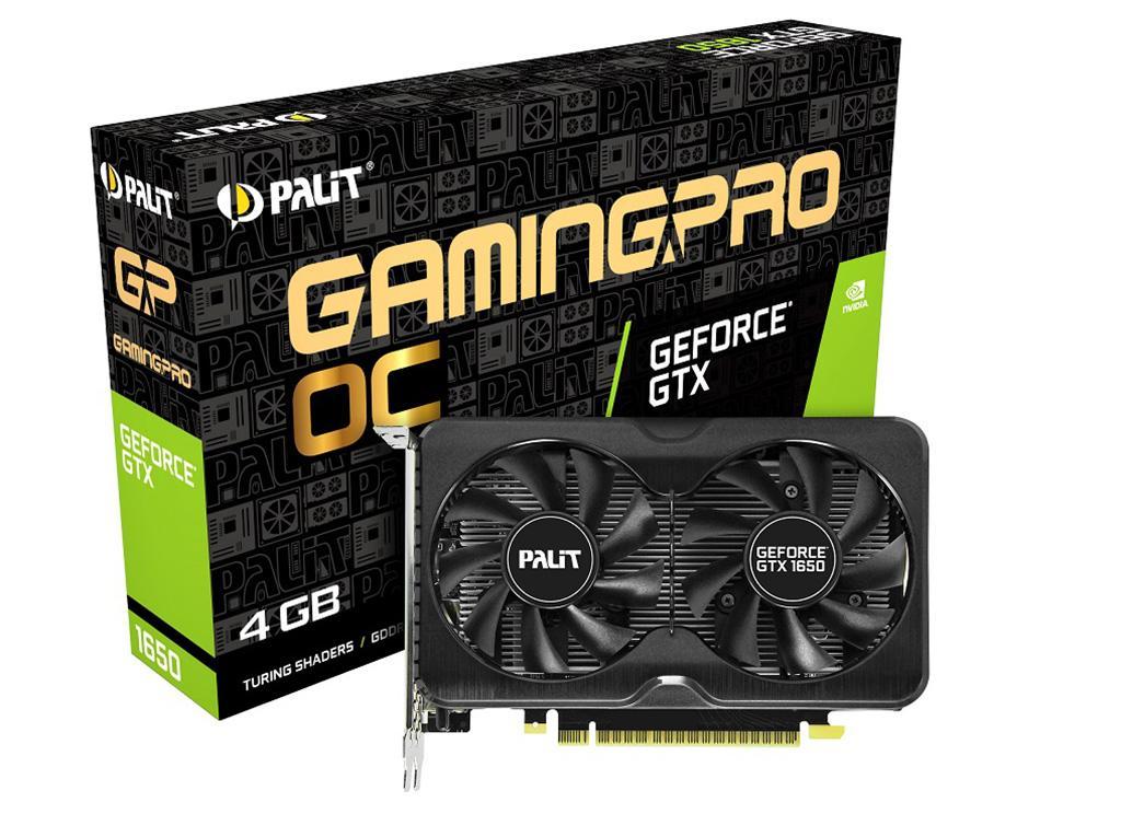 Самой первой GTX 1650 на памяти GDDR6 представила Palit – модели GP и GP OC